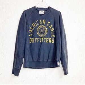 Vintage American Eagle Sweatshirt Blue Small